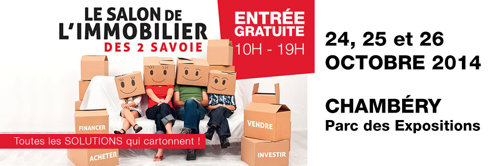 Salon immobilier chamb ry 2014 armanet promoteur for Salon immobilier chambery